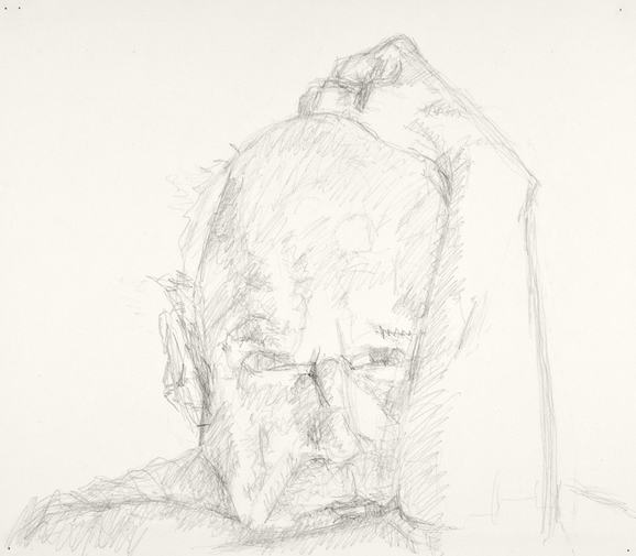 Self-portrait drawings Study of head and arm (6th CHOUPARM)