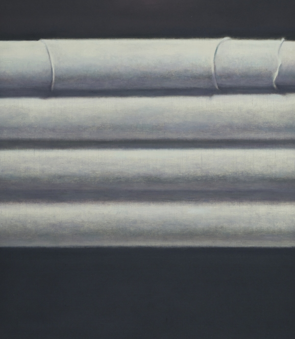 Still-lifes Cylinders wrapped in white cloth (front)
