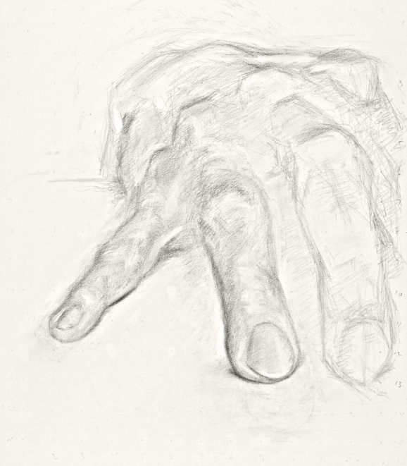 Paintings and drawings of my left hand Study of left hand (4711HO 4th) (B 11/09)