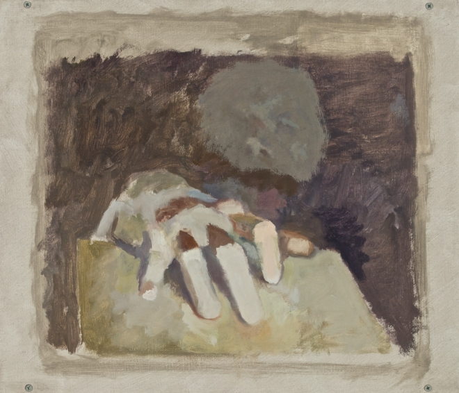 Paintings and drawings of my left hand ABB 03/21/12
