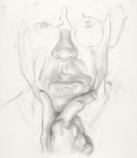 Jeffrey Saldinger Self-portrait drawings graphite on paper