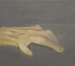 Jeffrey Saldinger Paintings and drawings of my left hand oil on linen