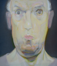 Self-portrait paintings oil on linen