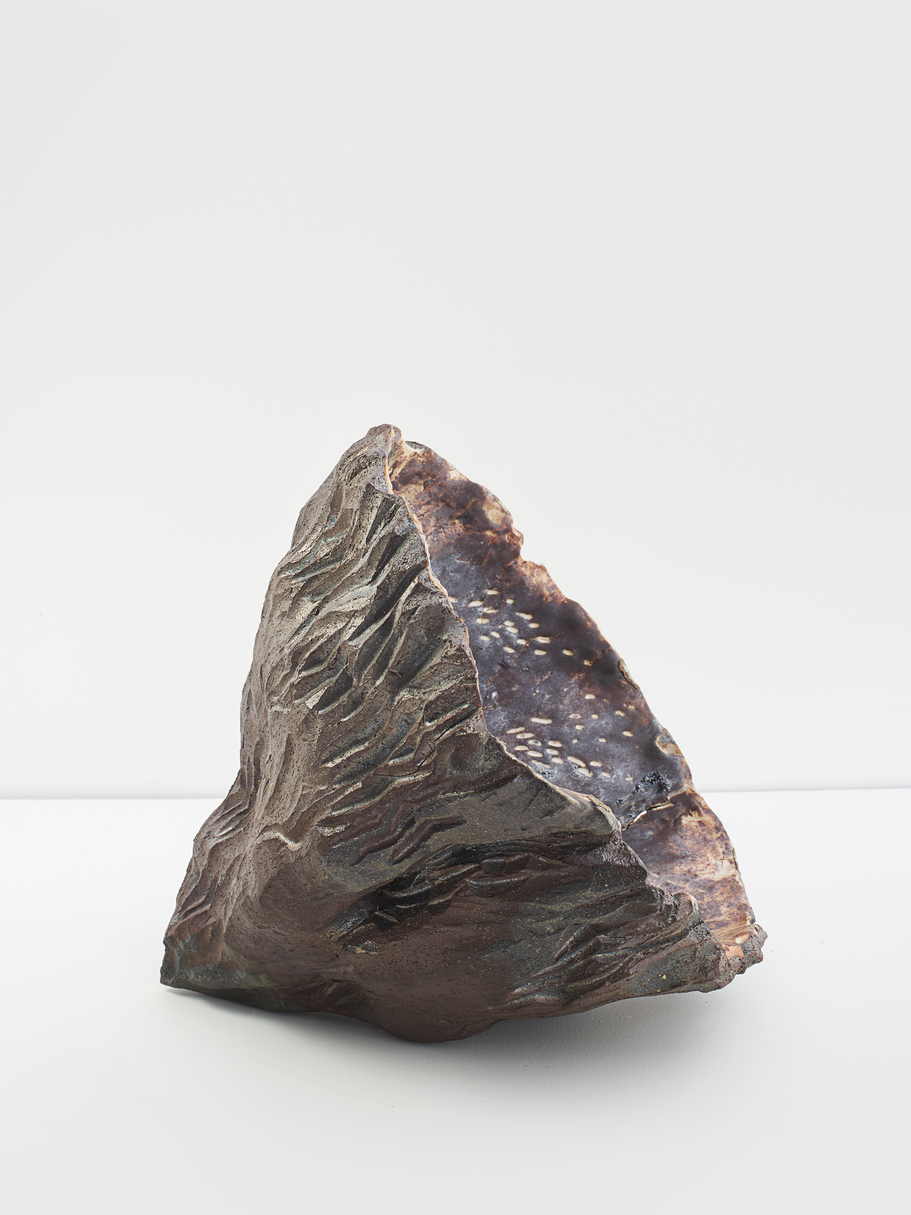 JEMILA MACEWAN It Holds Us All Wood-fired stoneware, porcelain and Icelandic volcano ash