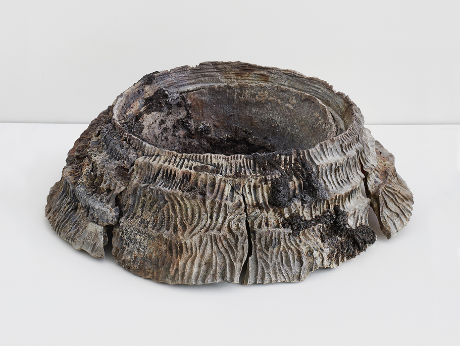 JEMILA MACEWAN It Holds Us All Wood-fired stoneware and Icelandic volcano ash