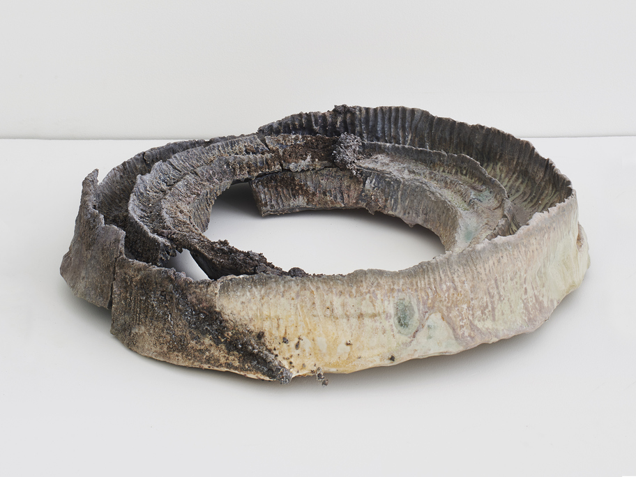JEMILA MACEWAN It Holds Us All Wood-fired porcelain, Icelandic volcano ash