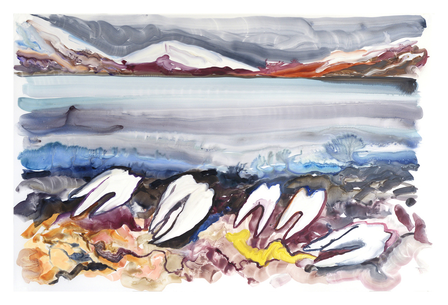 JEMILA MACEWAN Paintings Watercolour and gouache on yupo