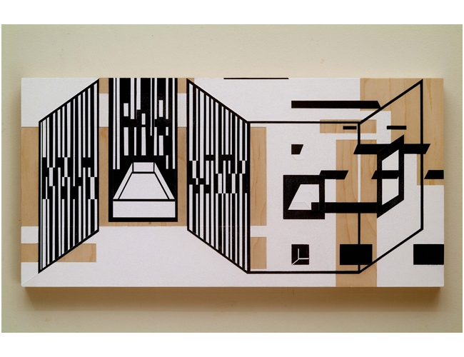 Paintings Black and White Lines