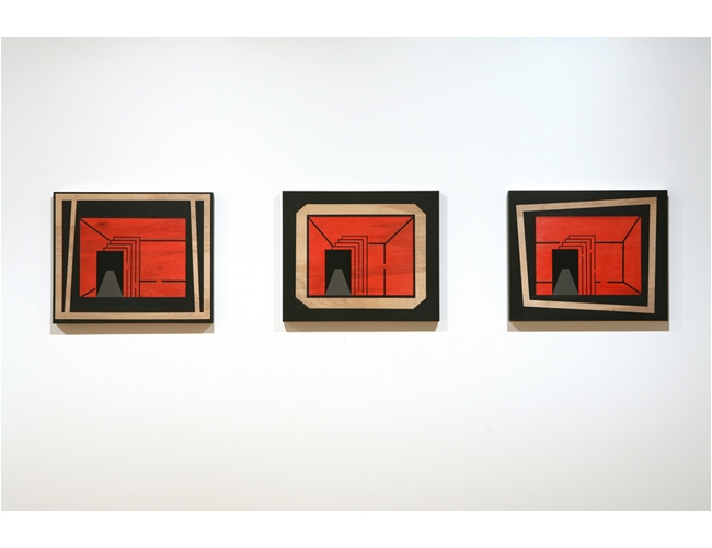 Paintings Black Frame (triptych)