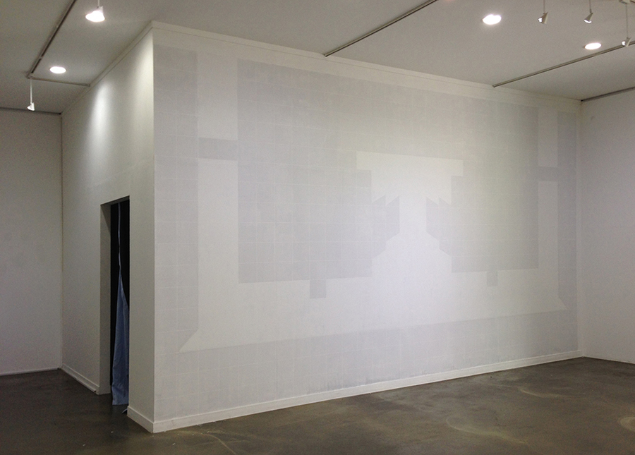 Installation Tape and paint on wall