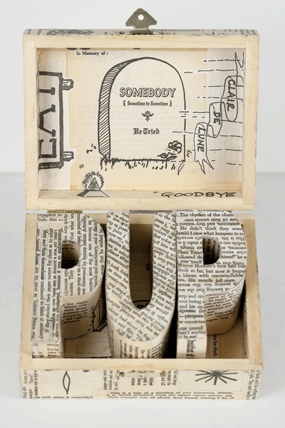 JEN BANDINI constructions Paper, pva, matte medium, wood, metal