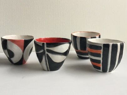 Handbuilt Ceramics Clay and glazed