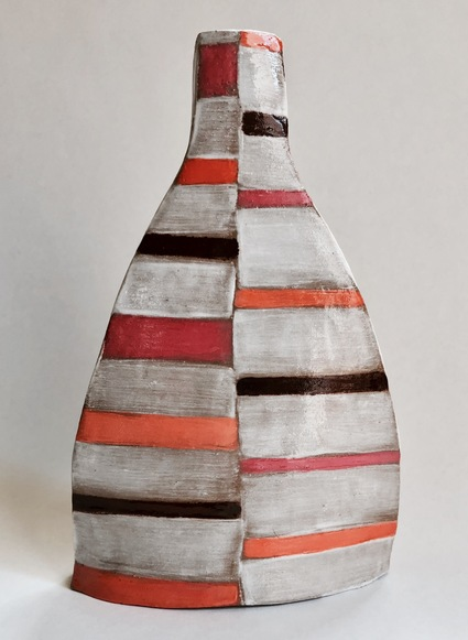 Handbuilt Ceramics slab built clay, porcelain slip and glaze