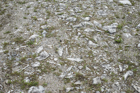 Marble waste at a former Vermont Marble Company site, West Rutland, Vermont