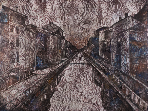 Watercolor/Photo Naviglio in Lace