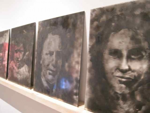 Smoke and Mirrors Smoke Portraits (Installation View)