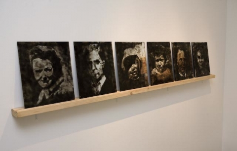 Smoke and Mirrors Portraits (Installation View)