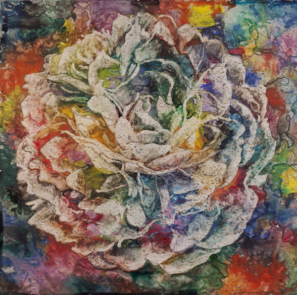 Watercolor/Photo Peony