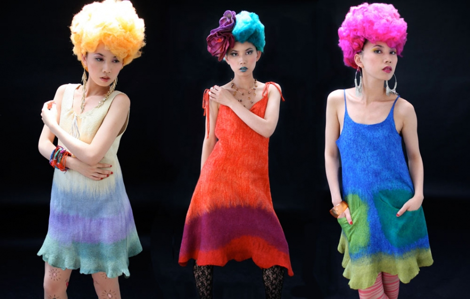 Wearable Art: Harlequin Feltworks Feltettes (Dresses)