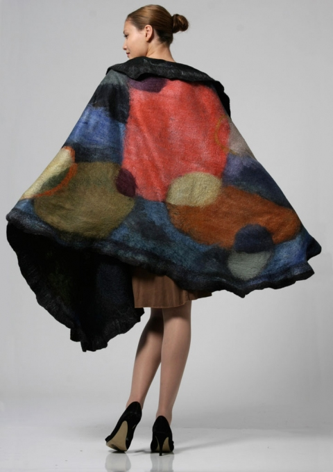 Wearable Art: Harlequin Feltworks Art Wrap
