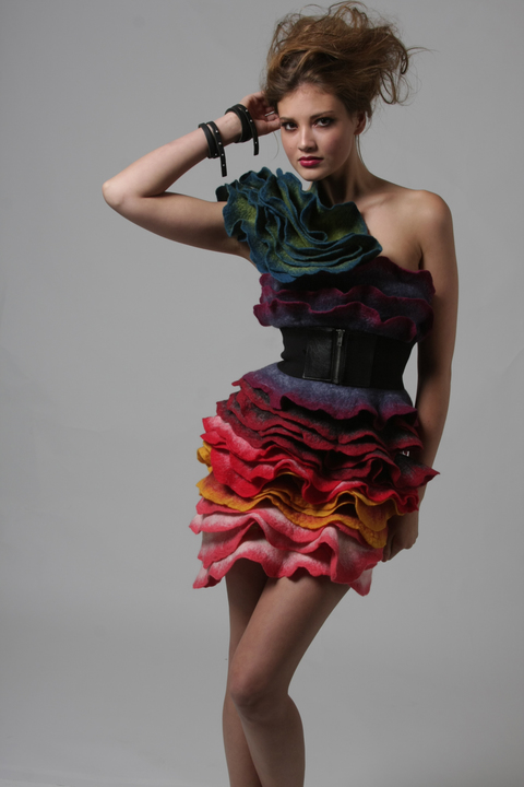 Wearable Art: Harlequin Feltworks Rose Dress (Improv)