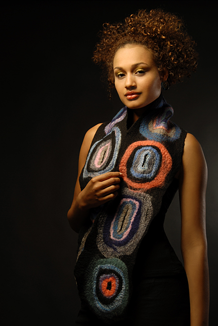Wearable Art: Harlequin Feltworks Concentric Scarf