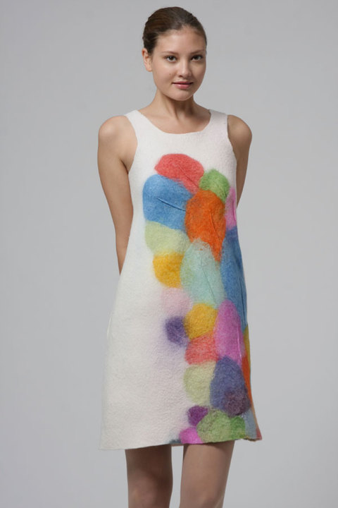 Wearable Art: Harlequin Feltworks Balloon Dress