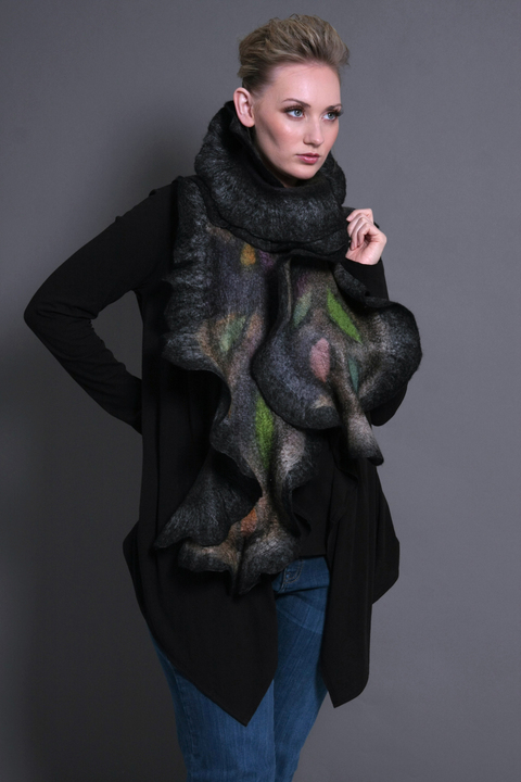 Wearable Art: Harlequin Feltworks Mona Scarf