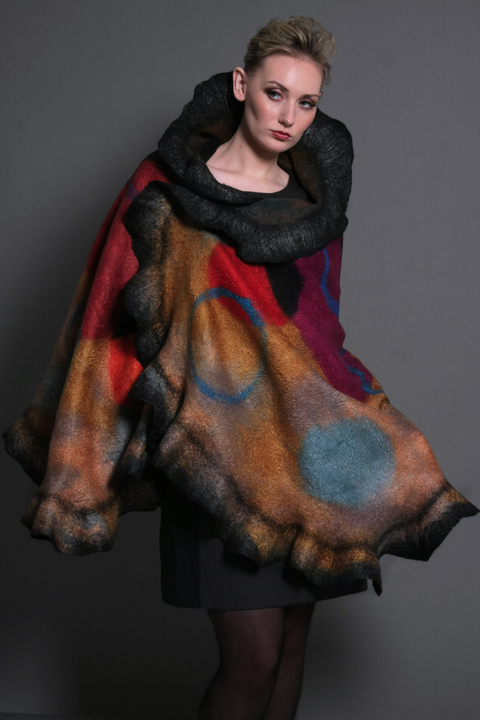 Wearable Art: Harlequin Feltworks Gold Wrap