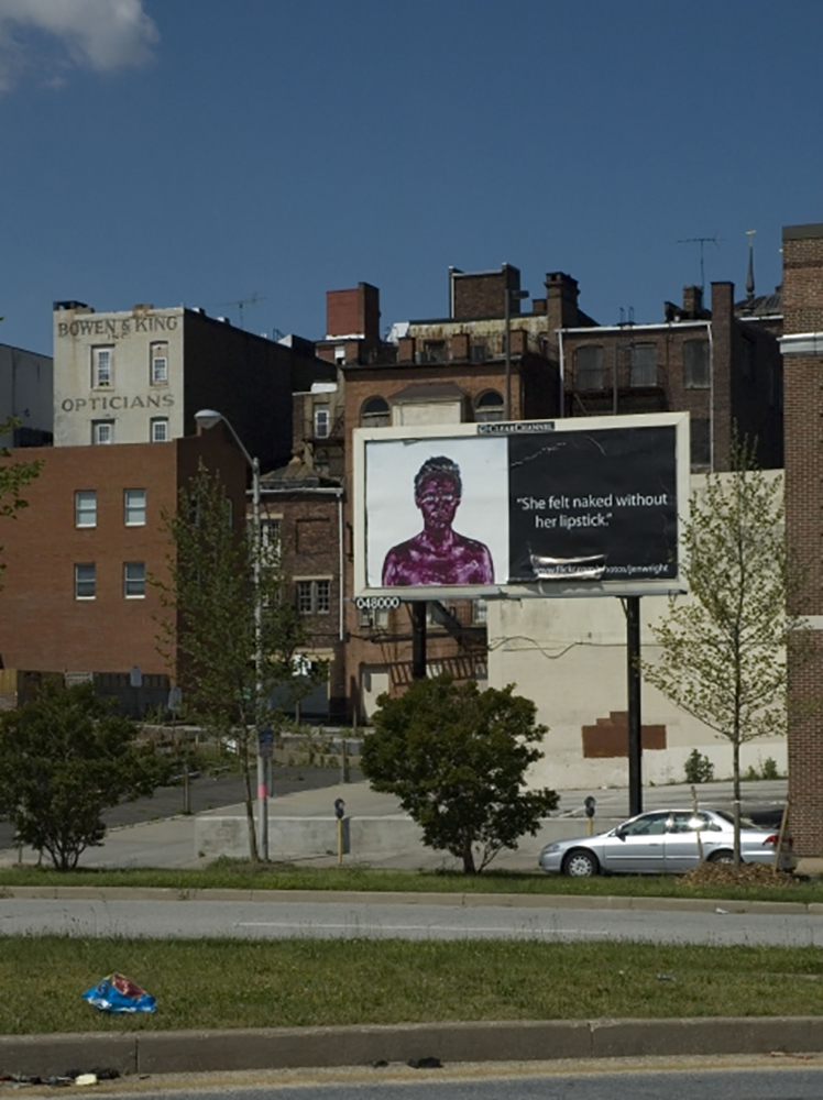 Jennifer Leigh Wright Song Feminist Artwork Installed Billboard