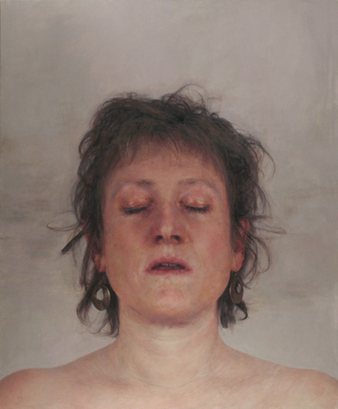2012 Self-portrait with eyes closed