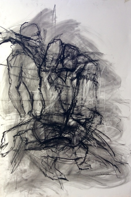 Jenny Lai Olsen Recent Drawings, 2018- Charcoal on Paper