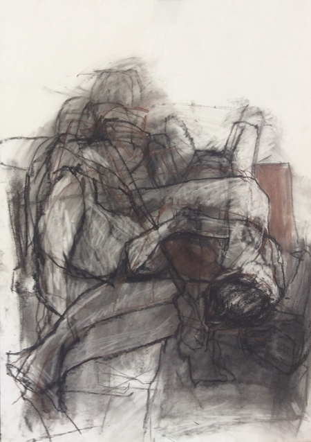 Jenny Lai Olsen Recent Drawings, 2018- Charcoal, Conté Crayon on Paper