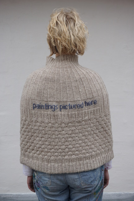 Paintings Pictured Here Shetland wool knit + worn by artist Stine Frederiksen (DK)