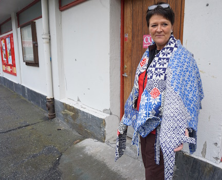 2015 . How to Wear a Hardangerfjord Norwegian wool knit + worn by Lillian Aga (NO)