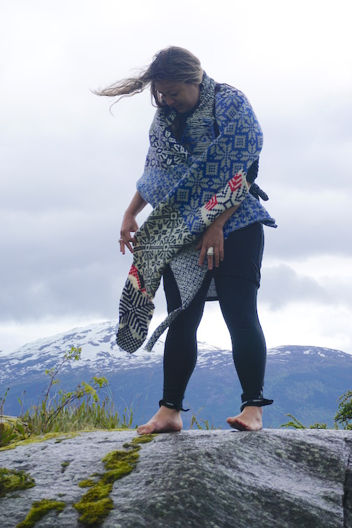 2015 . How to Wear a Hardangerfjord Norwegian wool knit + worn by artist Marisa Molin (AU)