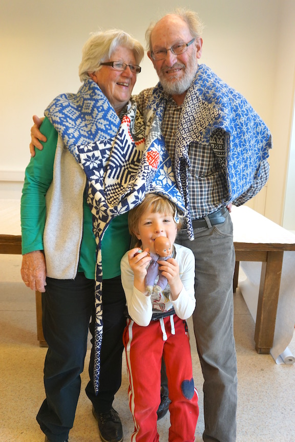 2015 . How to Wear a Hardangerfjord Norwegian wool knit + worn by Oma Ine + Opa Harrie Hooymans + Merlijn