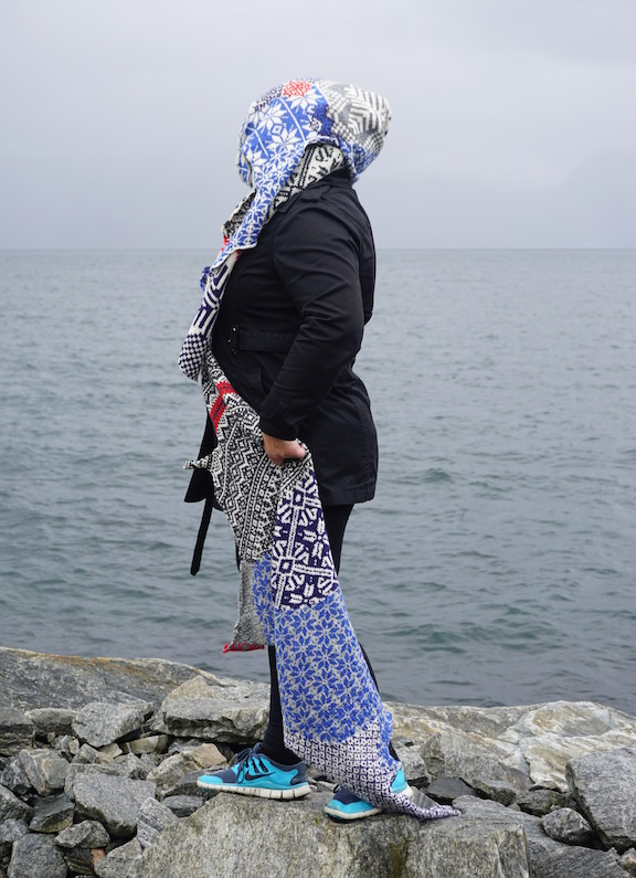 2015 . How to Wear a Hardangerfjord Norwegian wool knit + worn by artist Anneli Belsvik Aras (NO)
