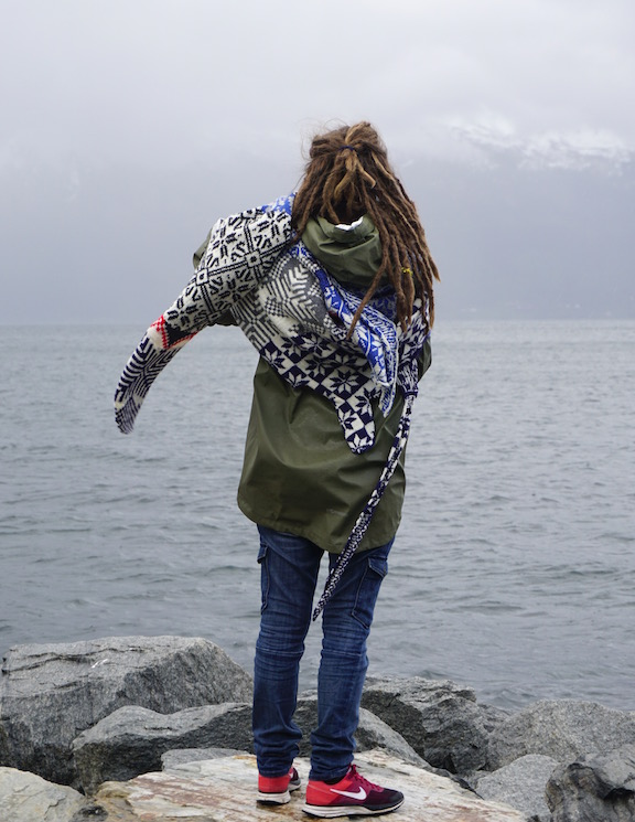 2015 . How to Wear a Hardangerfjord Norwegian wool knit + worn by artist Thina Nilsen (NO)