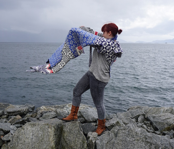2015 . How to Wear a Hardangerfjord Norwegian wool knit + worn by artist Silje Bergsvik (NO)
