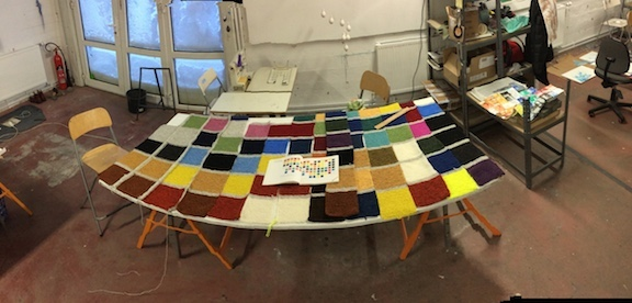 J E N   P E P P E R  Development of Color Ranges through the Ages Icelandic wool knit, to be felted + worn