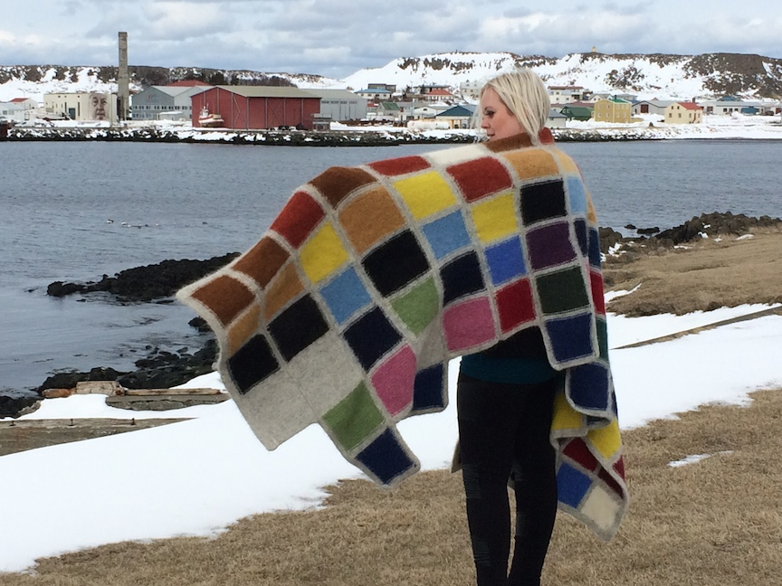 J E N   P E P P E R  Development of Color Ranges through the Ages Icelandic wool knit, felted + worn by Àslaug Ott (IS)