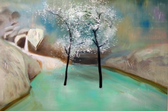 Jeong Julia Lee Water and Dreams Oil, paper on canvas