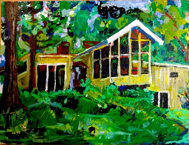 Jerelyn Hanrahan OYSTER BAY, HOMETOWN SERIES.             PAINTINGS ON ARCHITECTURE