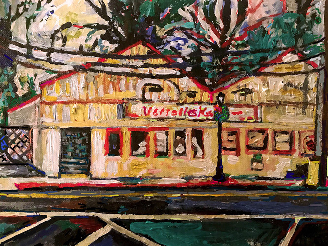 Jerelyn Hanrahan OYSTER BAY, HOMETOWN SERIES.             PAINTINGS ON ARCHITECTURE Acrylic on canvas