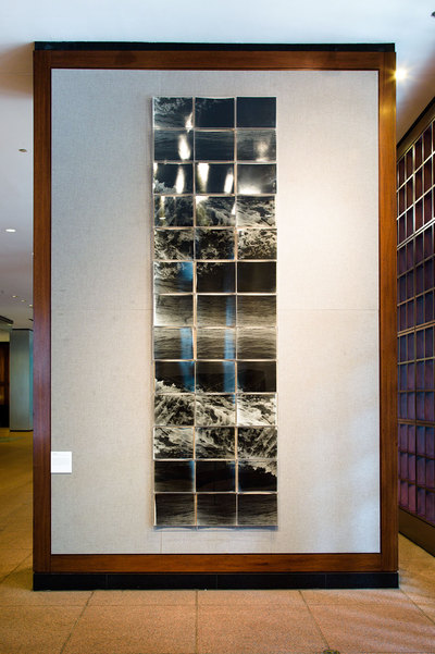 Jeri Coppola Treading Water VII gelatin silver prints, wood, plexi boxes