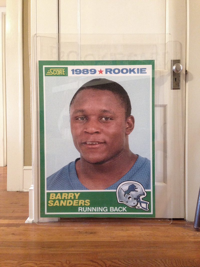 Jesse Morgan Barnett Barry Sanders Rookie Card