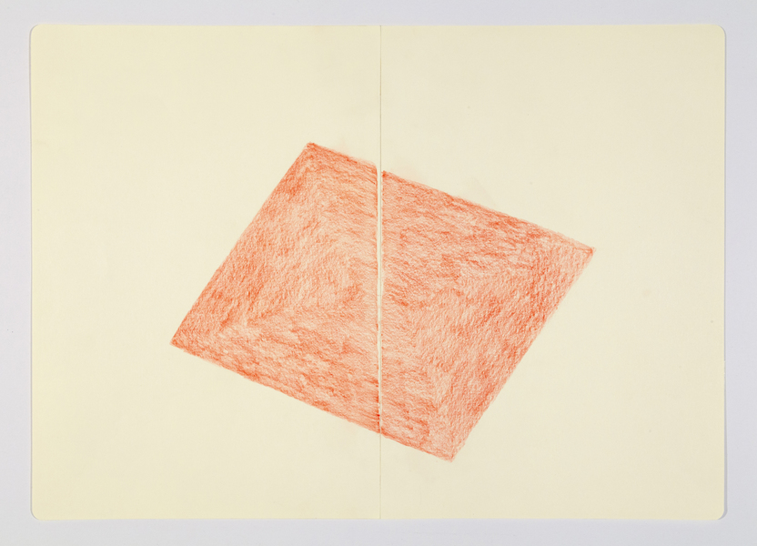 JESSICA DICKINSON from: notebook drawings and notations >  James Fuentes Online > July 15–August 15, 2020 colored pencil on paper with linen tape