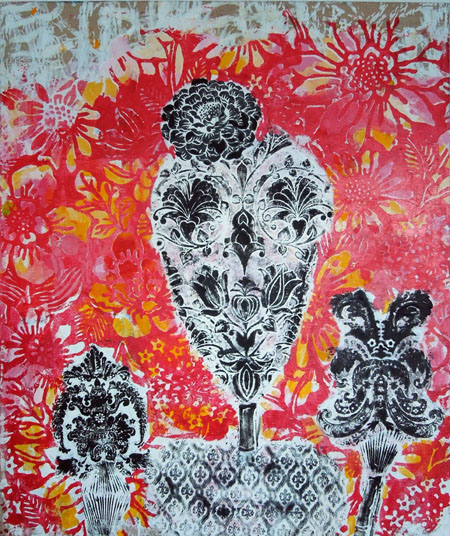 Jessica Weiss Archive: Friends and Family Silkscreen and acrylic on linen