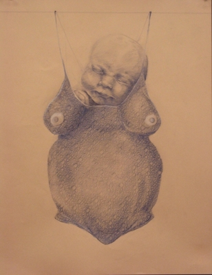 "Jillian Dickson  Charcoal Drawings: ""THIS, THAT""  Graphite on Paper"